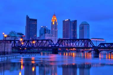 Columbus, Ohio skyline at night