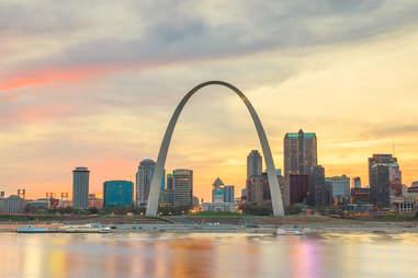 St. Louis, Missouri skyline at twilight