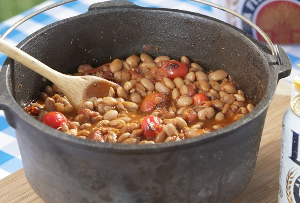 Get Grilling: Braised Beans
