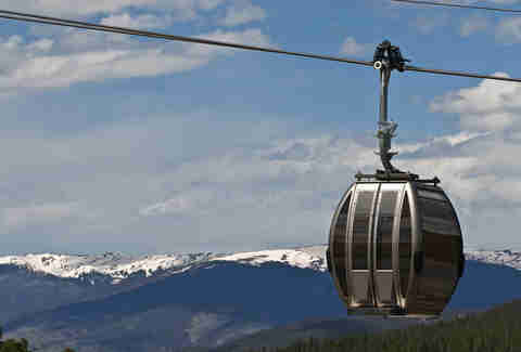 Ski Gondola in Breckenridge, Colorado