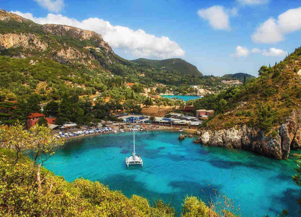 Paleokastritsa Corfu Greece