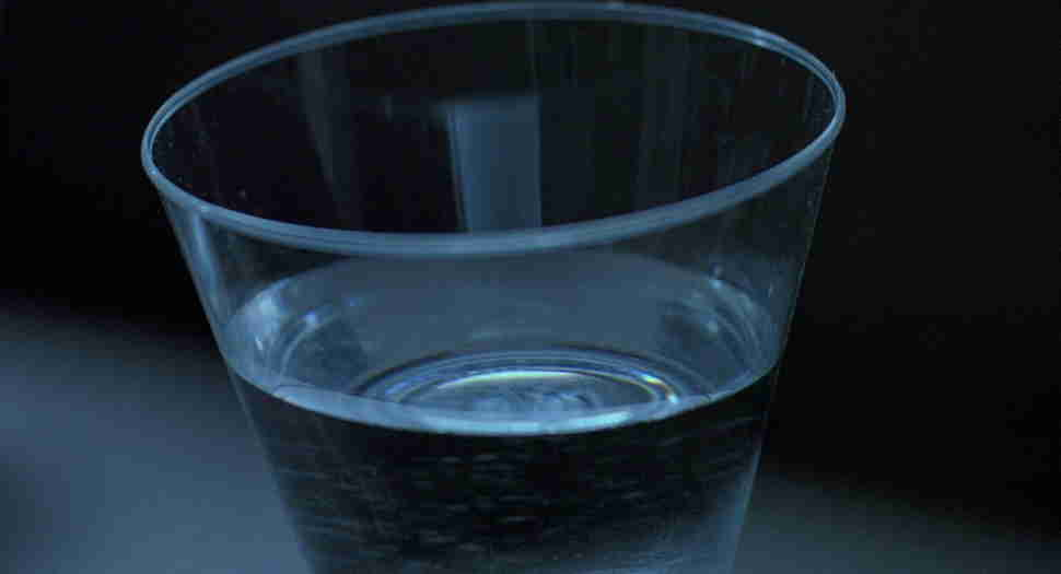 the cup of water