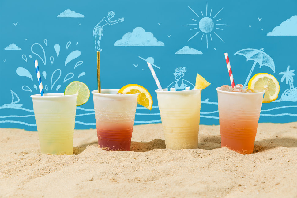 how to batch out cocktails for the beach
