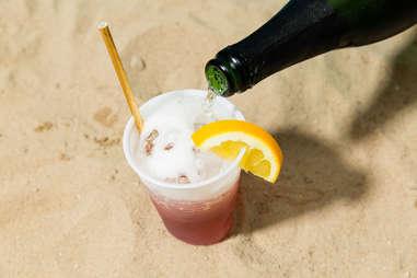 sparkling negroni beach summer cocktail recipe