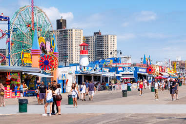 Coney Island seaside boardwalk