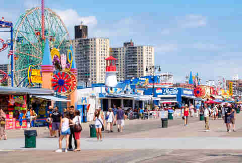 Coney Island seaside boardwalk