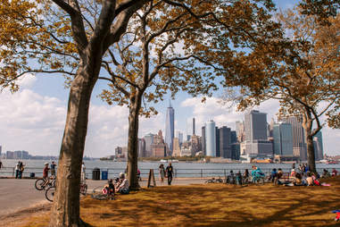 New York Skyline from Governors Island