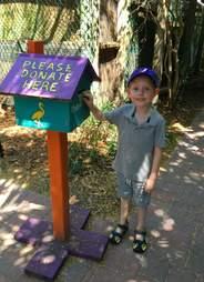 boy donates to help injured bird