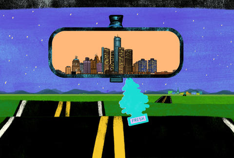 Detroit in the rearview mirror