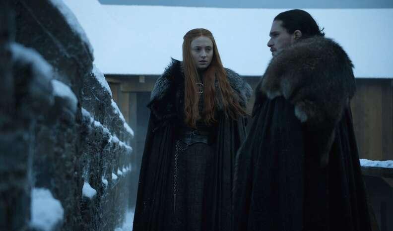 sansa and jon snow game of thrones season 7 premiere