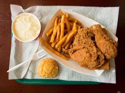 krispy krunchy fried chicken