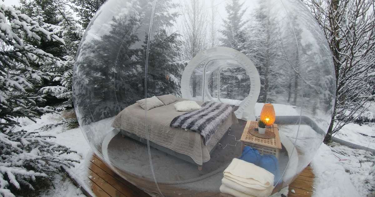 Iceland Hotel Bubbles Give You The Best Views Of The