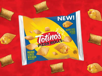 totino's mac and cheese with bacon rolls