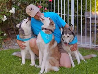 Siberian husky family