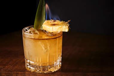 Saratoga Flaming cocktail