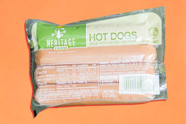 heritage farm hot dogs