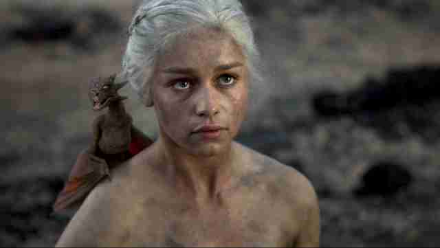 daenerys naked born from fire game of thrones