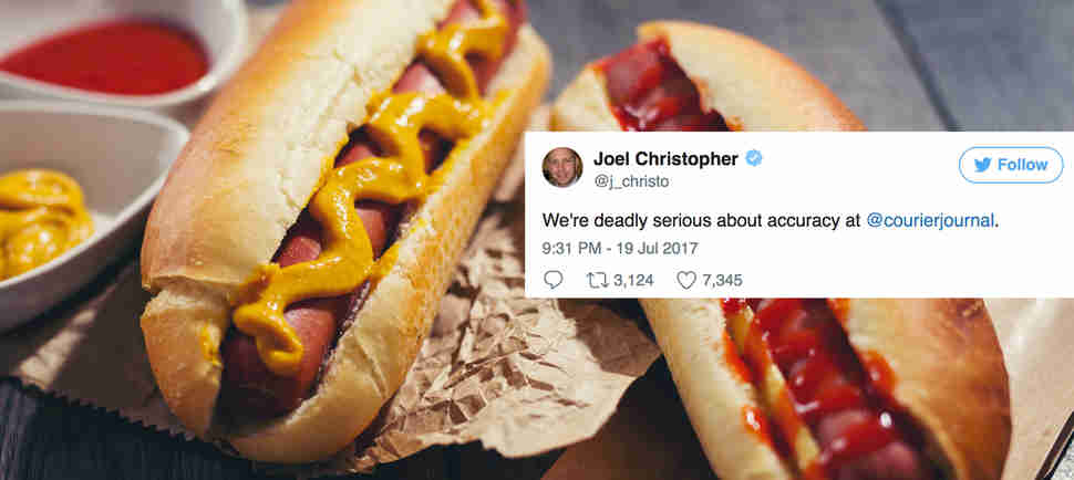 Newspaper Apologizes for 130 Years of Calling a Hot Dog a Sandwich