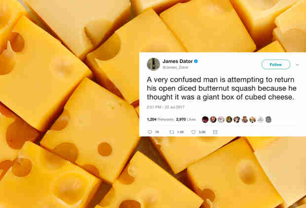 Man Live-Tweets a Guy's Struggle to Return Butternut Squash He Thought Was Cheese