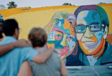 Watch This Street Artist Create A Mind-Blowing Mural Of... His Parents?