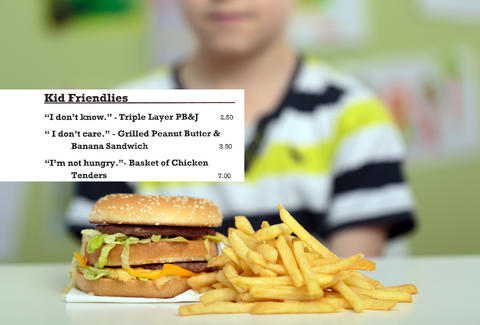 Fagers Island Kids Menu Is Filled With Jokes About Picky Eaters