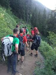 german shepherd rescued from mountain