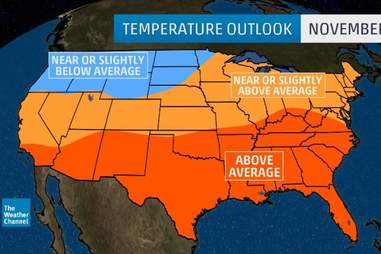 fall weather forecast