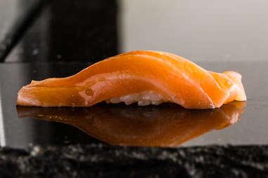 salmon sashimi rice roll fatty fish sushi seafood