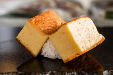 tamago egg custard sushi rice seafood