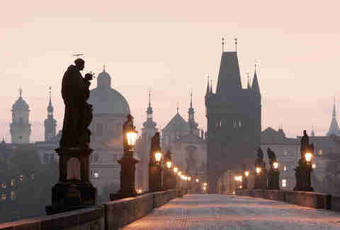 Sunrise over the Charles Bridge, Prague, Czech Republic