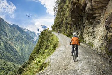 Biking in Bolivia