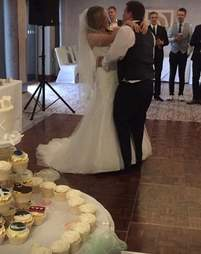 wedding optical illusion