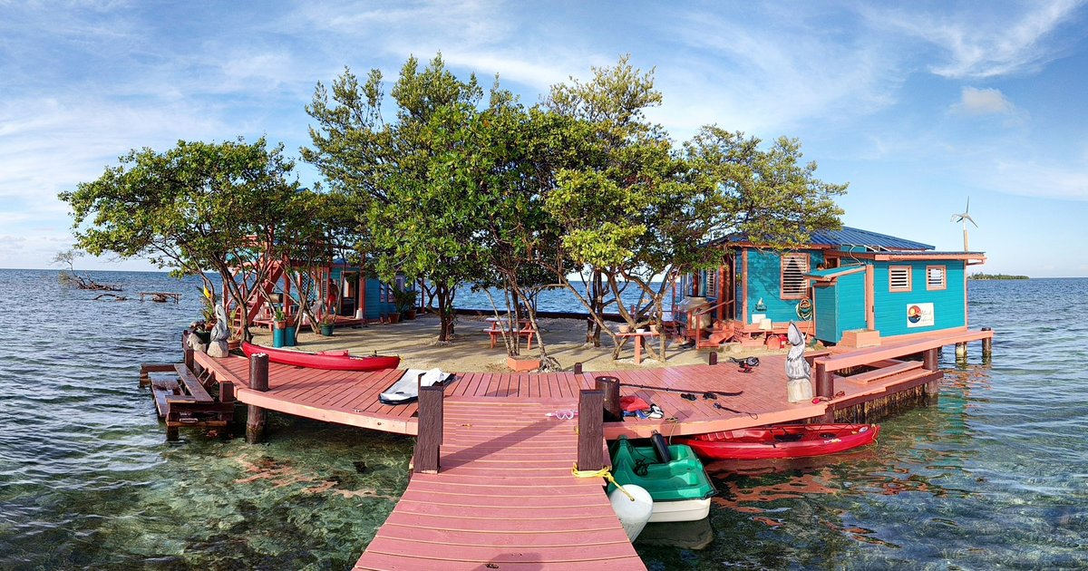 bird island in placencia belize is the ultimate airbnb