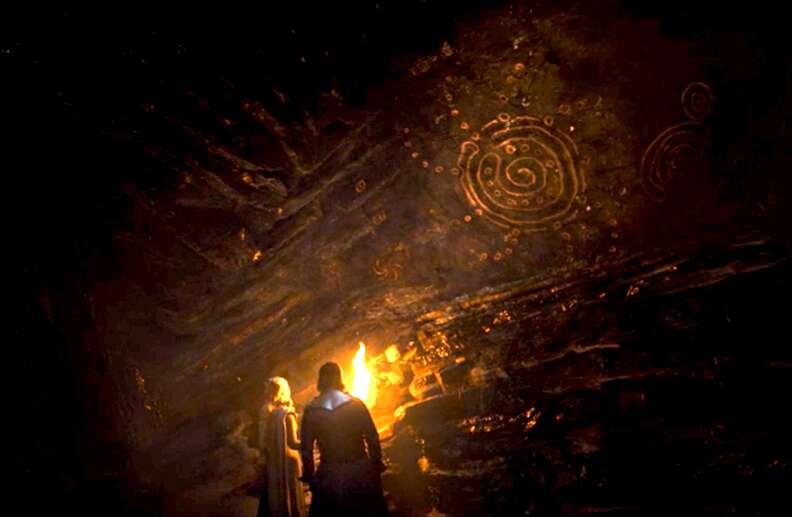 jon snow cave paintings game of thrones season 7