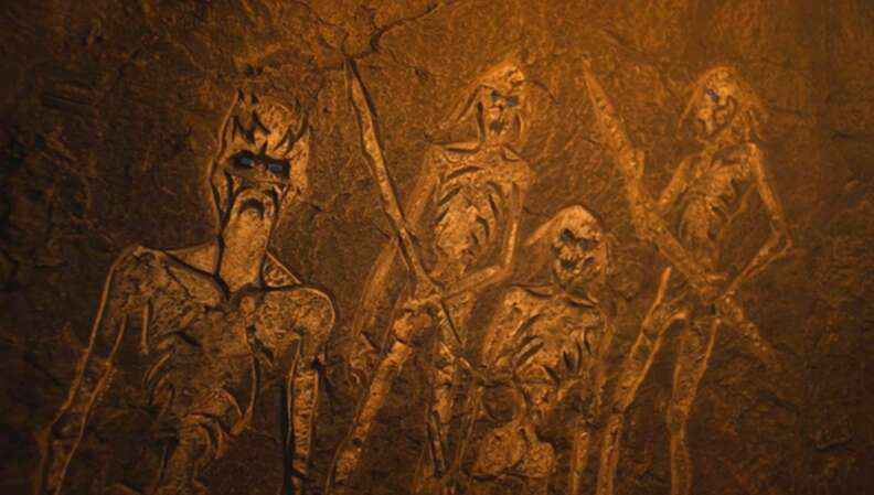 game of thrones cave paintings white walkers