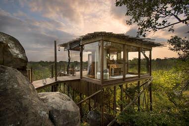 Lion Sands treehouse resort