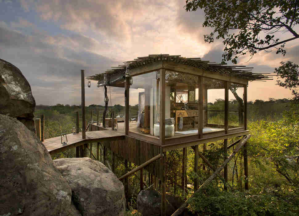 Lion Sands treehouse resort