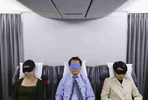 sleeping gear for planes