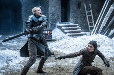 arya brienne fight scene game of thrones season 7