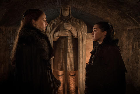 sansa and arya game of thrones season 7