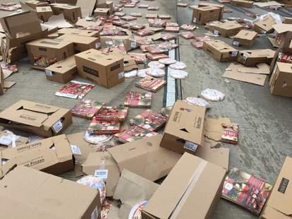pizza truck spill
