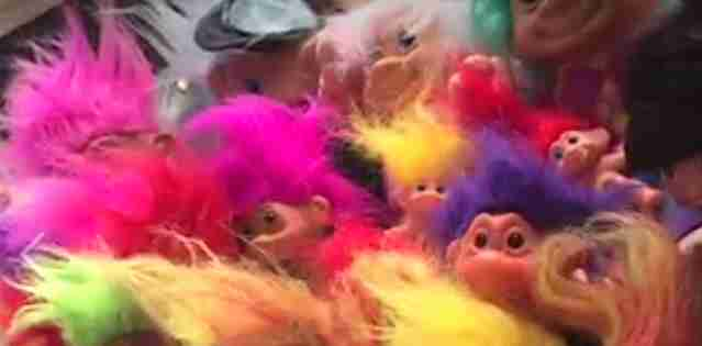 Troll dolls for rescued chimps birthday