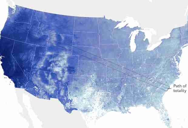 NASA Maps Predict Where the Skies Will Be Clearest for the Eclipse