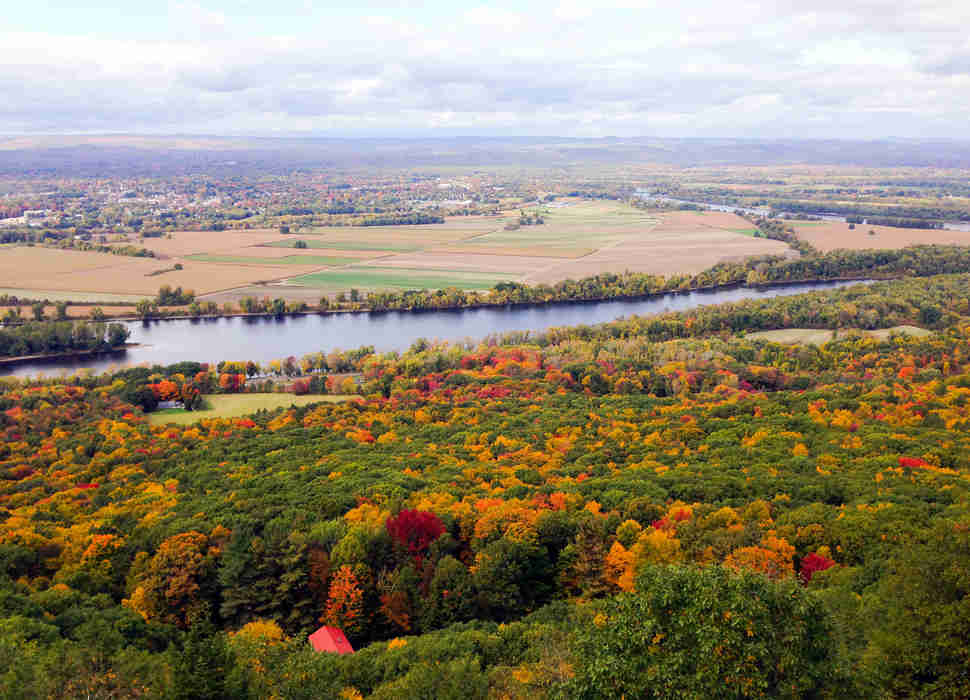 View of Connecticut River and Northampton