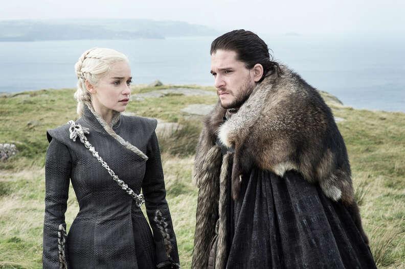 jon snow and daenerys game of thrones season 7