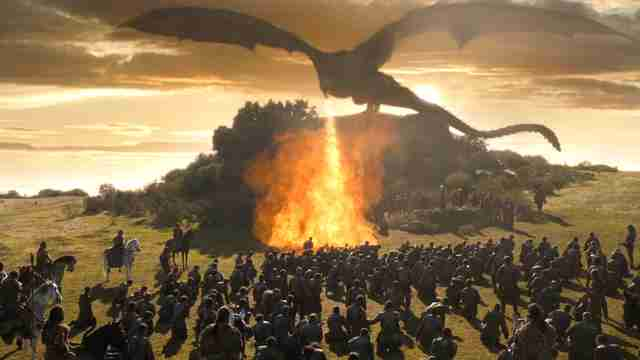 game of thrones season 7 dragon fire