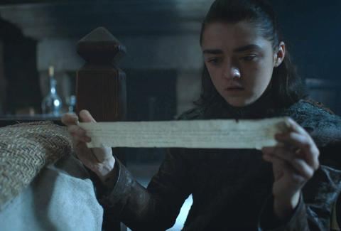 game of thrones season 7 arya note sansa