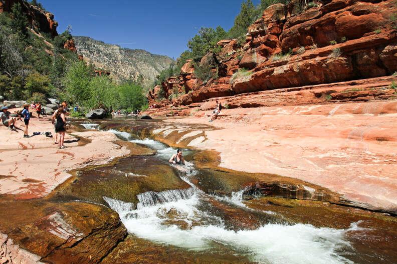 natural waterslides