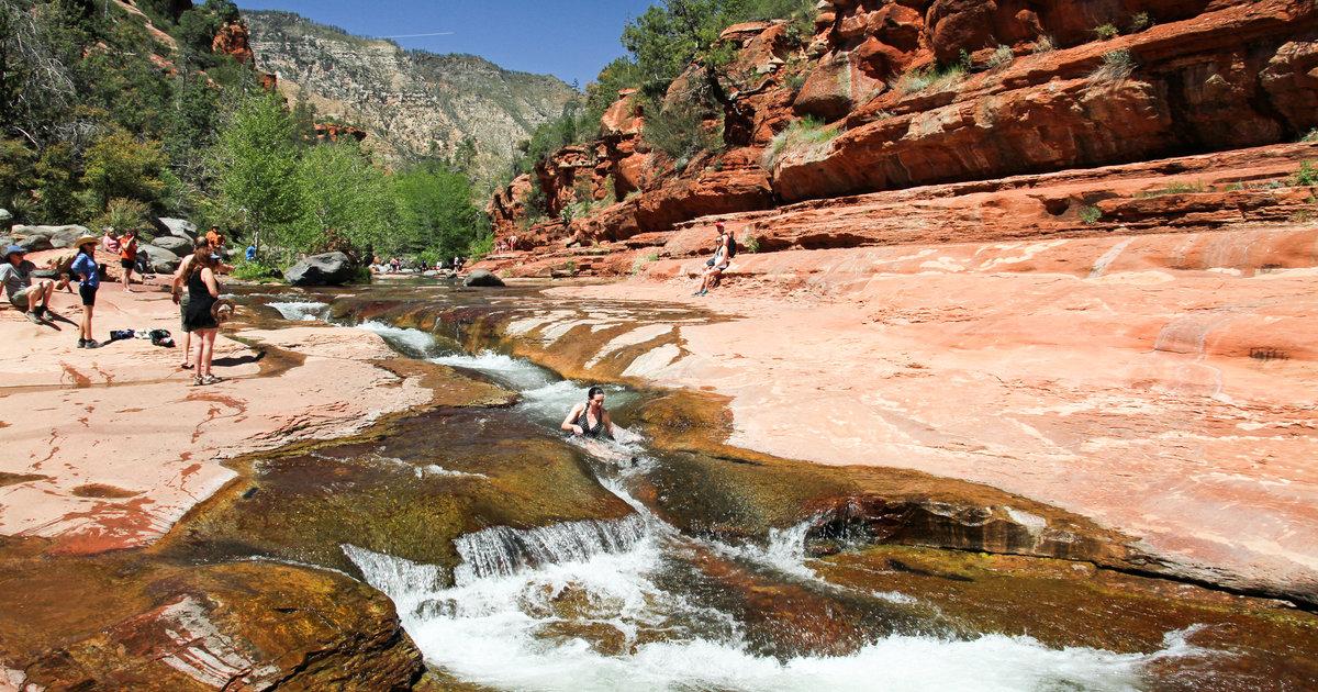 10 Badass Natural Water Slides Across America