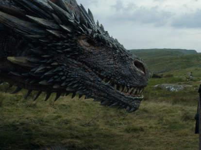 jon snow and drogon the dragon